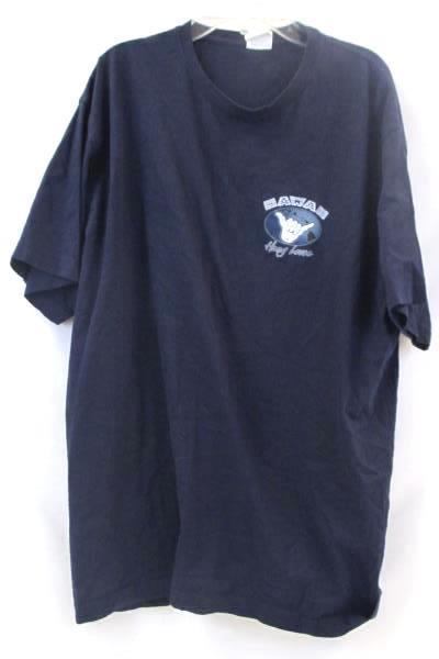 Mens Cotton Heritage Classic T-Shirt 100% Cotton Blue White Size XL