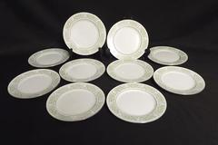 Set of 10 Taihei Fine China Bread Butter Fruit Plates Floral Pattern