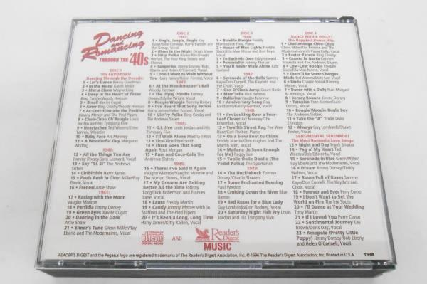 DANCING AND ROMANCING THROUGH THE '40'S 84-SONG 4-CD