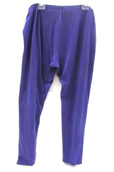 Missy Women's Sweatpants Solid Purple 50%Cotton Size L