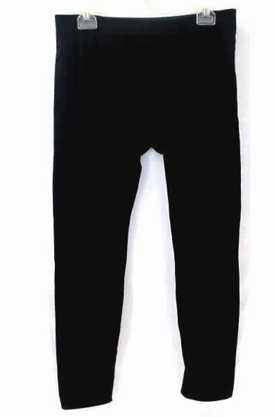 Solid Black Textured Leggings By Catherine's Women's Size M/L