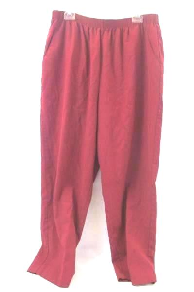 Pants By Briggs Red Stretchy Waist Women's Size 22W\