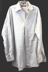 Tommy Hilfiger Classics Men's Long Sleeve Button-Up Shirt White Orange Blue Sz L