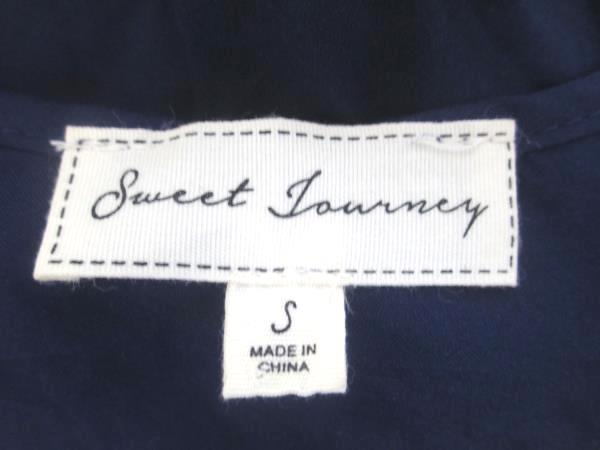 Sweet Journey Women's Tank Top Dark Blue Pink 100% Rayon Size Small