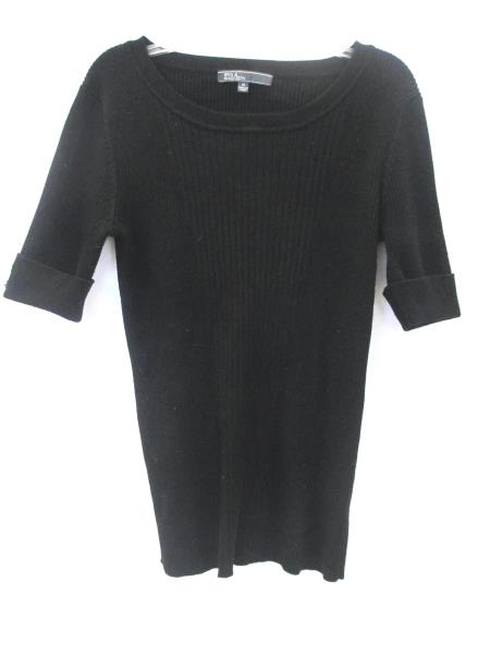 89th & Madison Women's Sweater Shirt Solid Black Size Medium