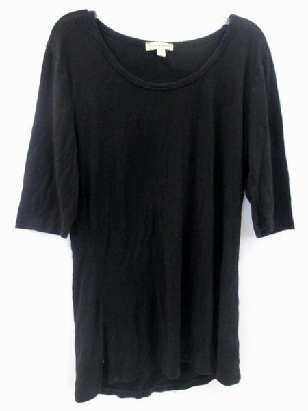 Zenana Outfitters Black 3/4 Sleeve Shirt Short Sleeve Women's Size M