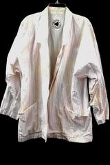 Brittania Button Up 3/4 Sleeve White Pink Women's Size M