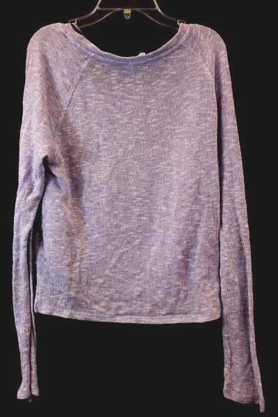 Live Love Dream Women's Sweater Purple Sparkle Leaf Size Large