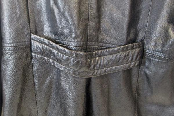 G3 Leather Jacket Solid Black Soft Leather Snap Down Women's Size S
