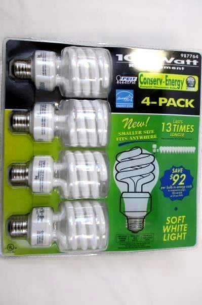 Feit Electric 100 Watt Replacement Light Bulb Last 13 Times Longer  4-Pack