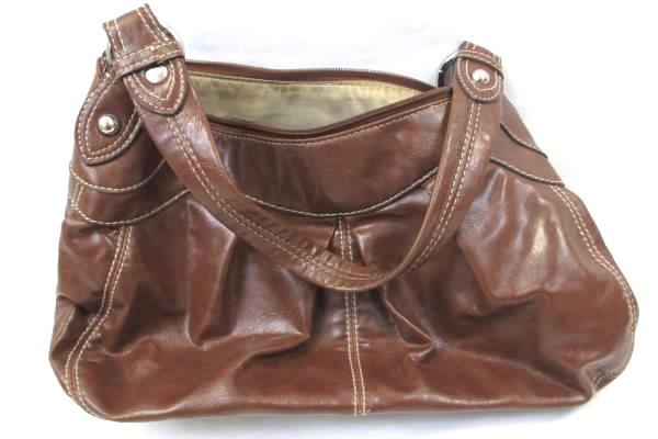 Women's Shoulder Handbag By Nine West Brown Zip Up