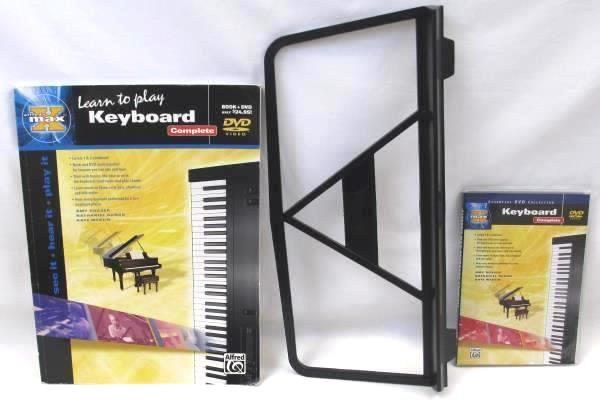 Learn To Play Keyboard Complete by Alfred's Max Book & DVD w/ Stand