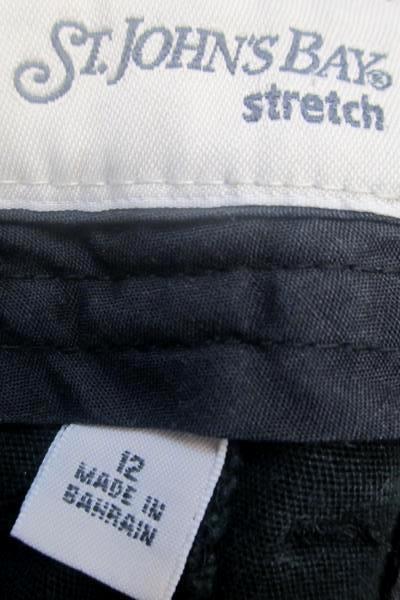 St. John's Bay Women's Capri's Stretch Pants Black Size 12