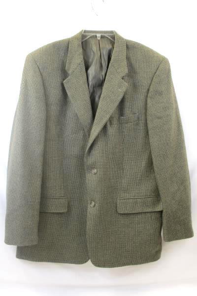 Club Room Men's Suit Jacket Brown w/ Black Spots Size 44R