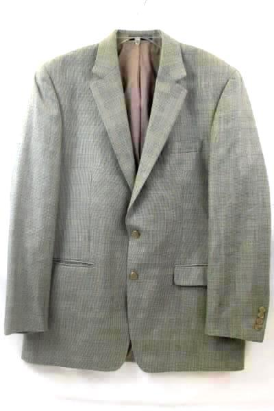 Men's Suit Jacket By Ralph Lauren Tan w/Black Spots Size 42L