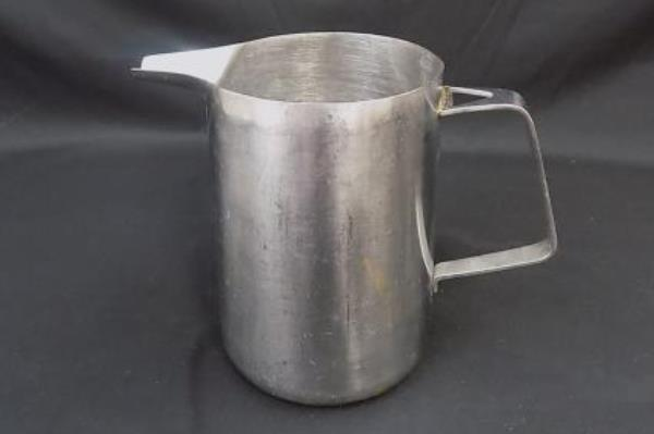 Vintage Stainless Steel Pitcher 1 Quart Tableware Cafe Entertaining