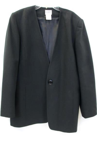 Liz Baker Essentials Men's Suit Jacket Solid Black Size 12