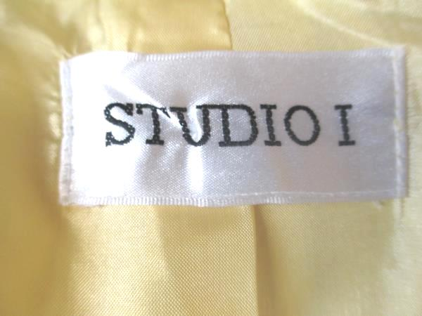 Studio I Shirt Yellow Short Sleeve w/ Black Lining Women's Size 12