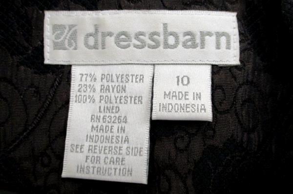 Women's DRESSBARN Plum & Black Rose Embroidered Suit Jacket Career Business 10