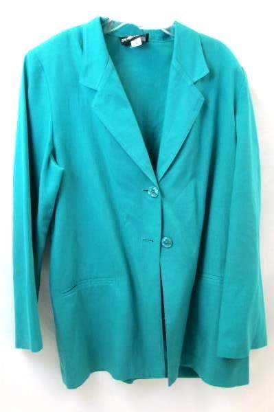 Sag Harbor Women's Suit Jacket Long Sleeve Green Size 12