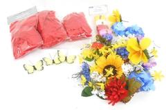 Craft Project Lot of Artificial Flowers Butterflies Rose Petals Curly Ribbon