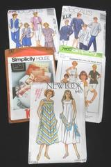 Lot of 4 Womens Clothing Patterns & 1 Pillow Pattern McCall's Simplicity Newlook