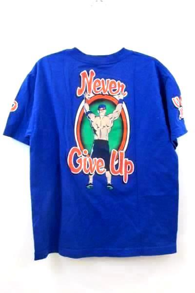 WWE T-Shirt Authentic Blue Orange John Cena Respect Boy's Size Youth L