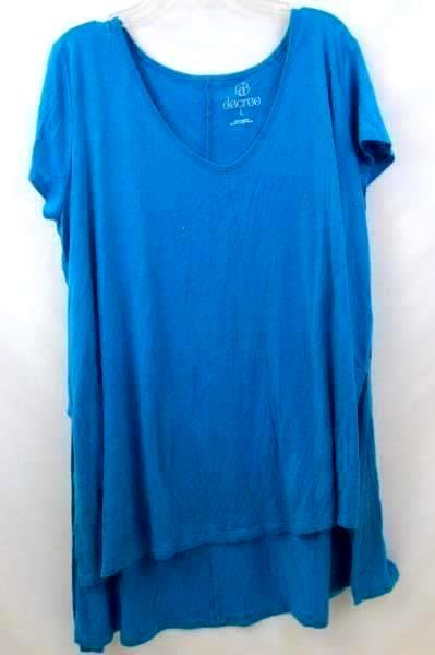 Lot of 2 Women's Shirt by St Johns Bay & Decree Blue Black Size Large