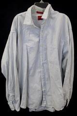 Men's Button Up By Arrow Long Sleeve White Plaid Size L