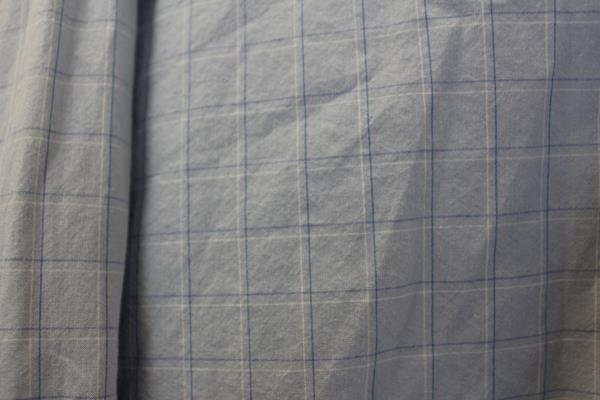 Men's Button Up By Old Navy Long Sleeve Blue White Plaid Size L