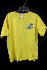 Gildan Graphic Tee Yellow w/ Blue Music Symbol Unisex Youth Size XL