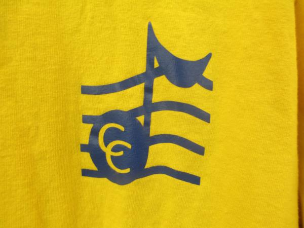Gildan Graphic Tee Yellow w/ Blue Music Symbol Unisex Youth Size XL