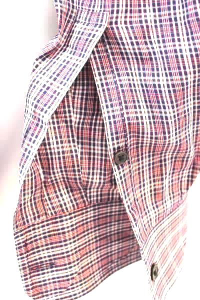 Michael Kors Men's Button Up Red White Blue Plaid Long Sleeve Size XL