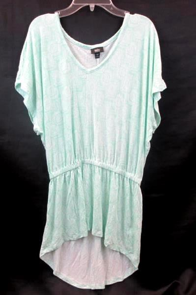 Women's Blouse By Mossimo Teal White Design Size S/P