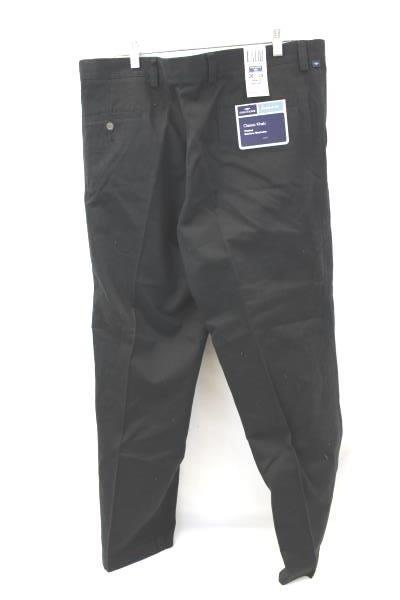 Dockers Men's Pants Black Khakis Classic Fit Pleated Size W38 x L29