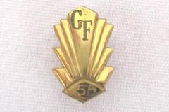 George Fox College University Class of 1958 Lapel Pin Tie Hat Tack Gold Tone