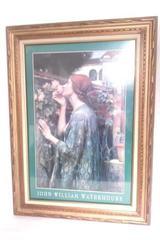 "John William Waterhouse Framed Poster ""The Soul of The Rose"""