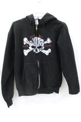 Pirates Of The Caribbean Juniors Size Small Black Zip-Up Sweatshirt ~Disney