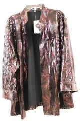 Over Coat by Notations Purple Shiny Women's Size 2X