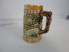Vintage Enesco Ceramic California Tankard Stein German Drink Beer Remains Silent