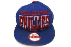 Philadelphia Phillies Blue 9Fifty Snapback Baseball Hat New Era Small to Medium