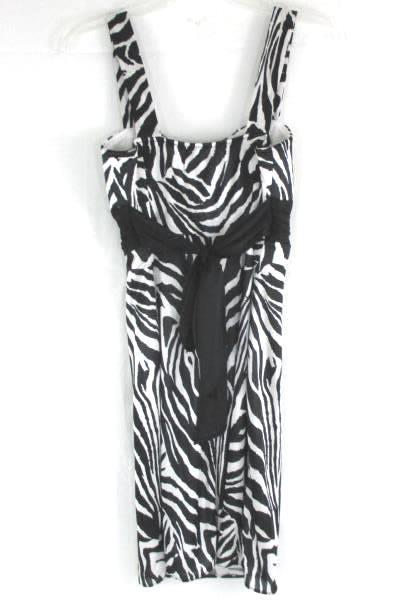 Sleeveless Zebra Print Formal Dress Masquerade Size Small