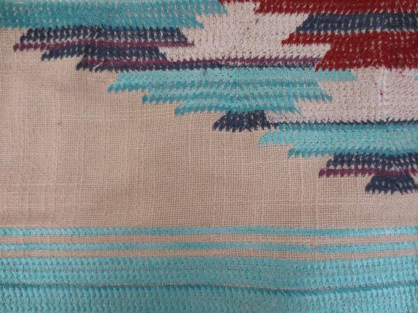 Design Legacy By Kelly O'Neal Linen Fabric Pillowcase Geometric Diamond NWT