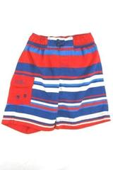 Boys Swim Trunks Size 3T Red, White & Blue UV Skinz Shorts