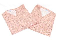 Lot of 2 Mammogram Mammography Gowns Medline Floral Print One Size Open Front