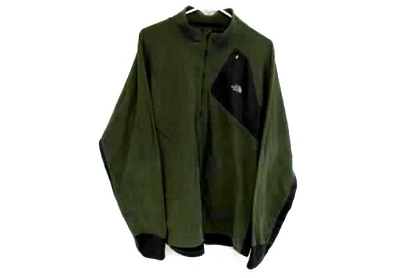 THE NORTH FACE Flight Series Men's 1/3 Zip Up Green Pull Over Size XL