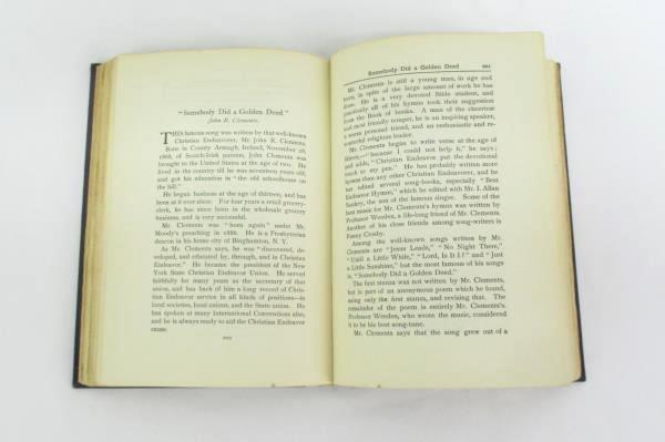 Amos R. Wells- A Treasure Of Hymns Copyright 1914