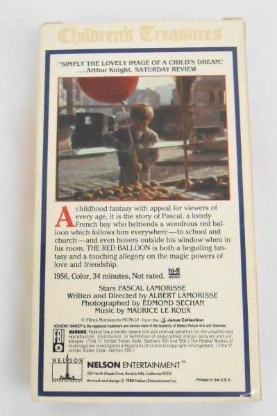 THE RED BALLOON ~ Albert Lamorisse -VHS Children's Treasure
