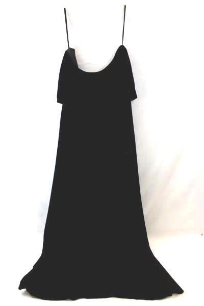 Women's Dress By  After Dark Black Velvet Sleeveless  Neck Flap Size16W