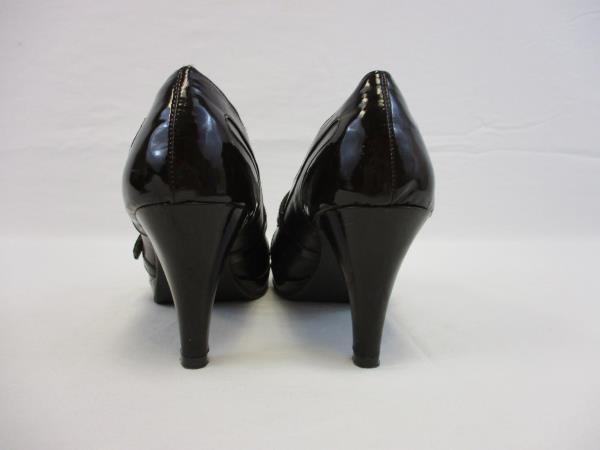 Apt. 9 Prosper Brown Patent Leather Heels With Cute Buckle Women's Size 8.5M